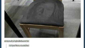 Gandalf on Chair Funny