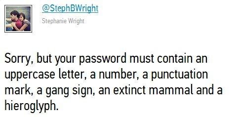 Password Requirements