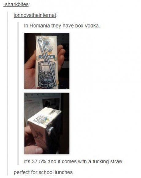 Vodka in School Lunches