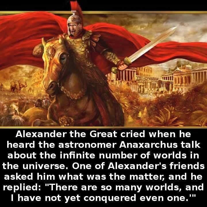 Alexander the great ambition