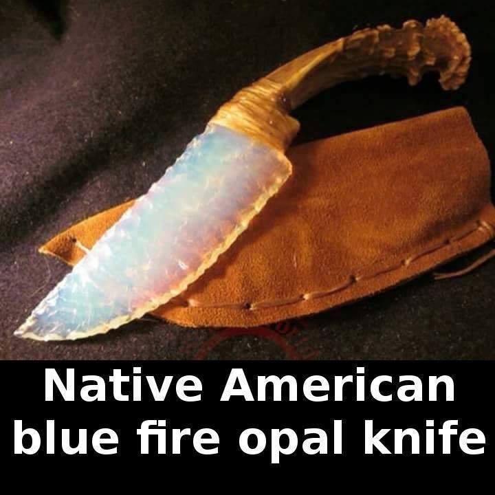 Native American blue fire opal