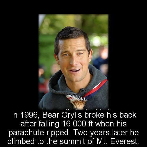 bear grylls broken back