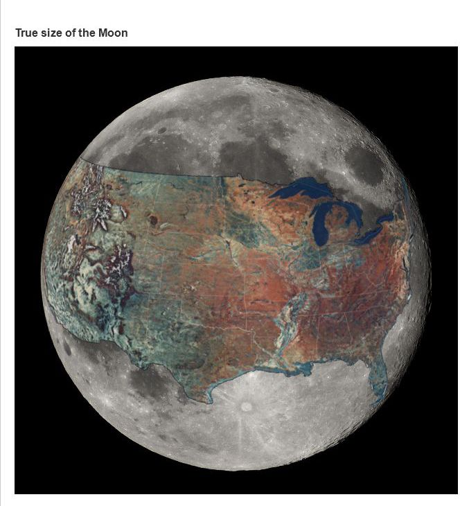 size of moon