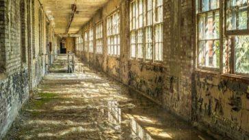 worn down hallway