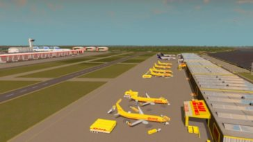 large commercial airport