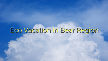 Eco Vacation In Bear Region