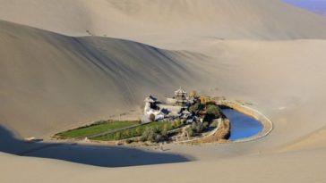 building in desert