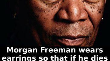 Morgan Freeman earrings